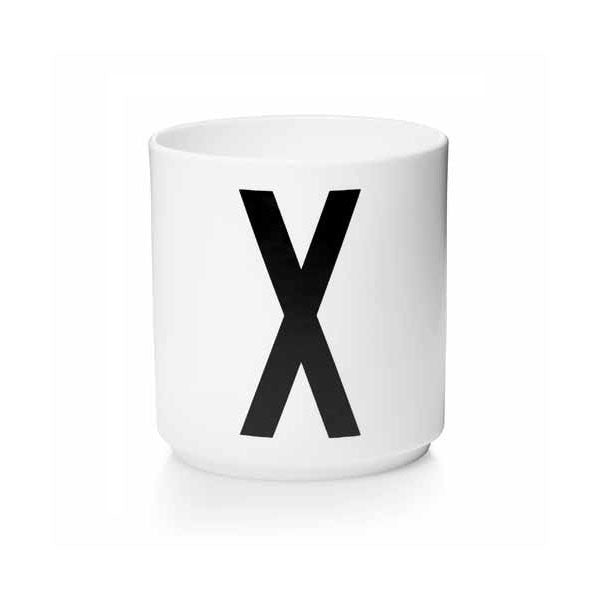 'X' Design Letters Bone China Cup - Vertigo Home