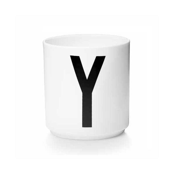 'Y' Design Letters Bone China Cup - Vertigo Home
