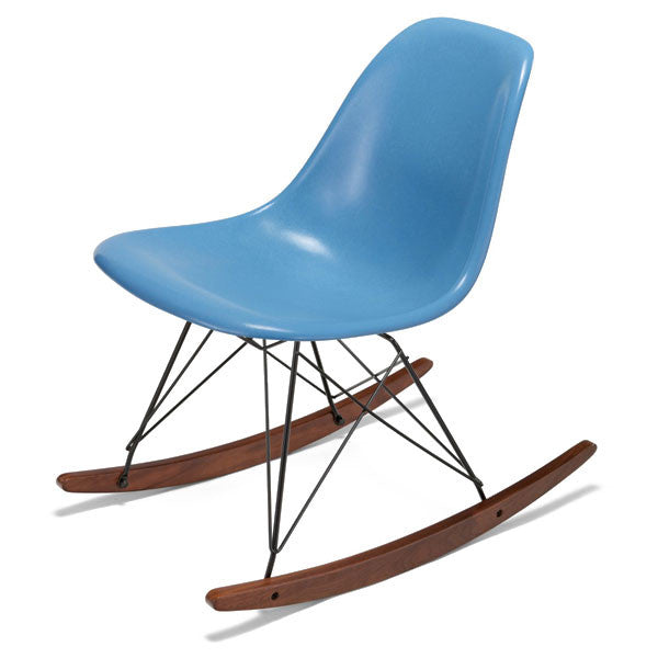 Side Shell Rocker w/ Walnut + Black Wire Dowel Base by Modernica - Vertigo Home