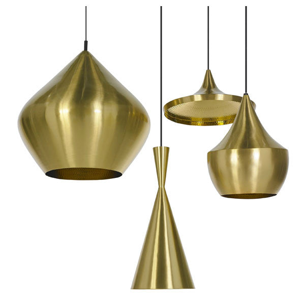 Beat Light - Tall - Brass by Tom Dixon