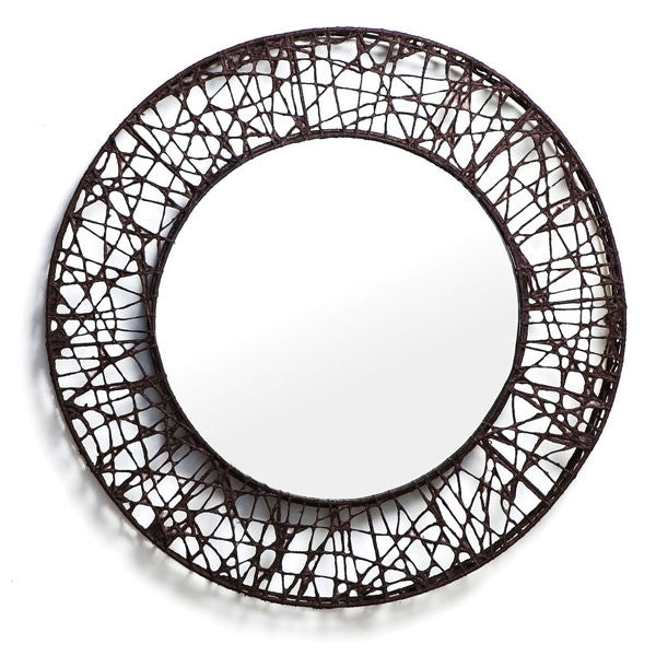 C-U C-Me Round Mirror Small by Kenneth Cobonpue for Hive - Vertigo Home