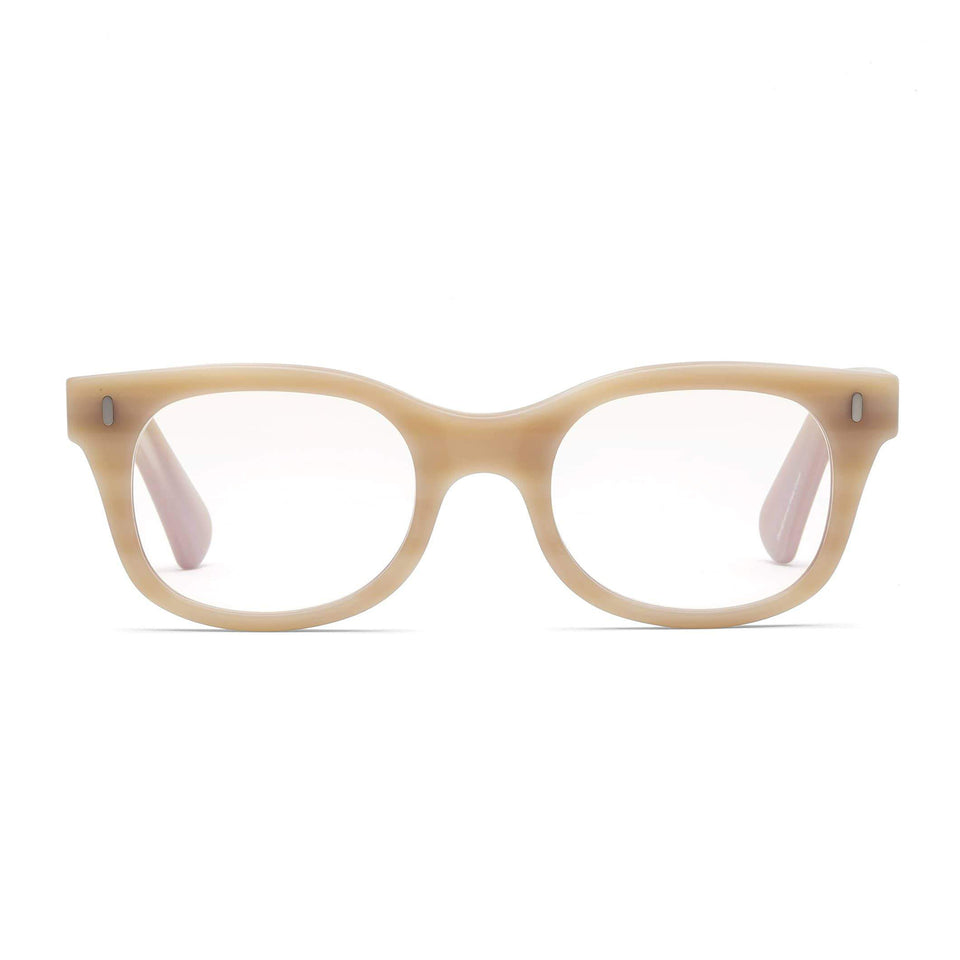 Bixby Matte Bone Reading Glasses by Caddis