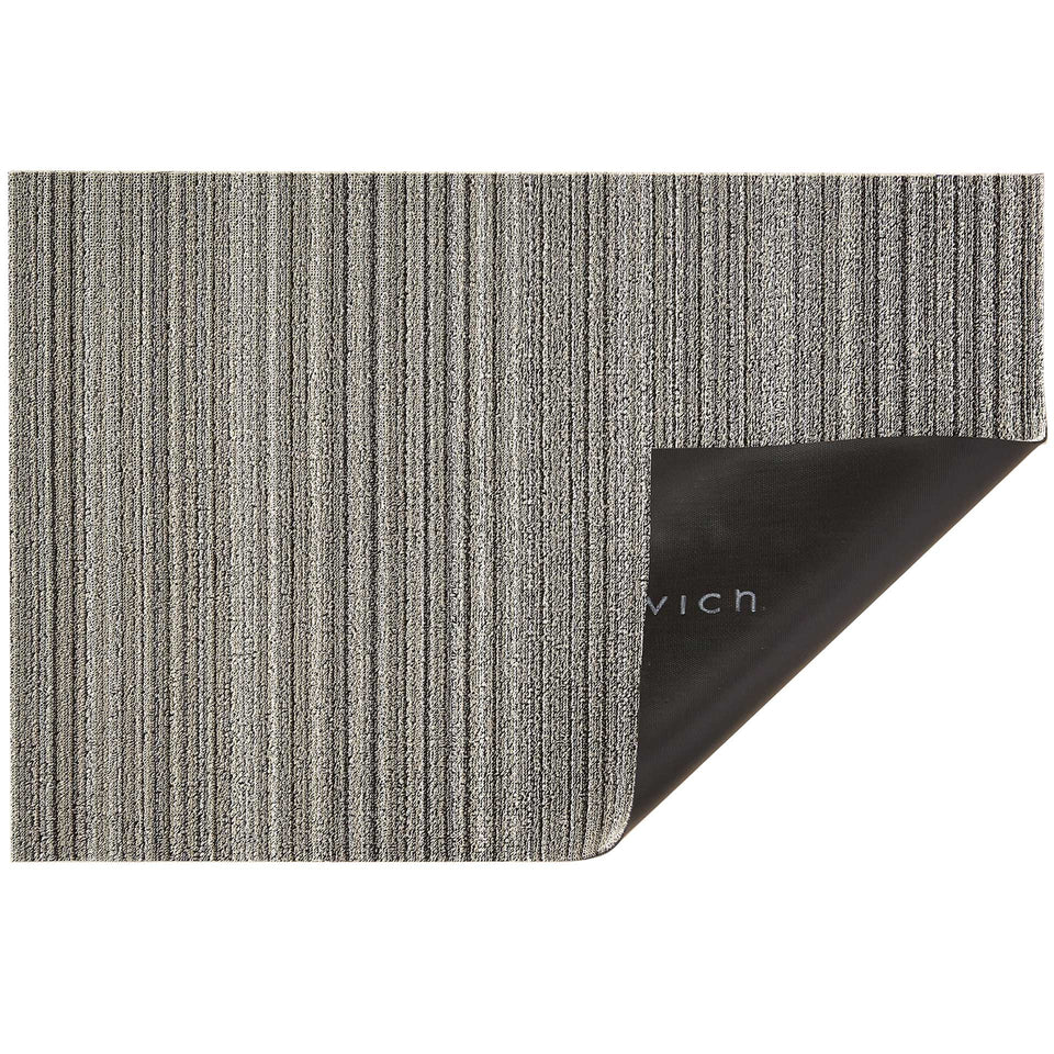 Birch Skinny Stripe Shag Mat by Chilewich