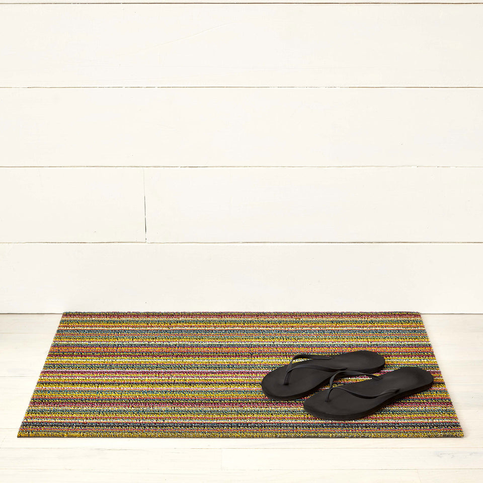 Bright Multi Skinny Stripe Shag Mat by Chilewich