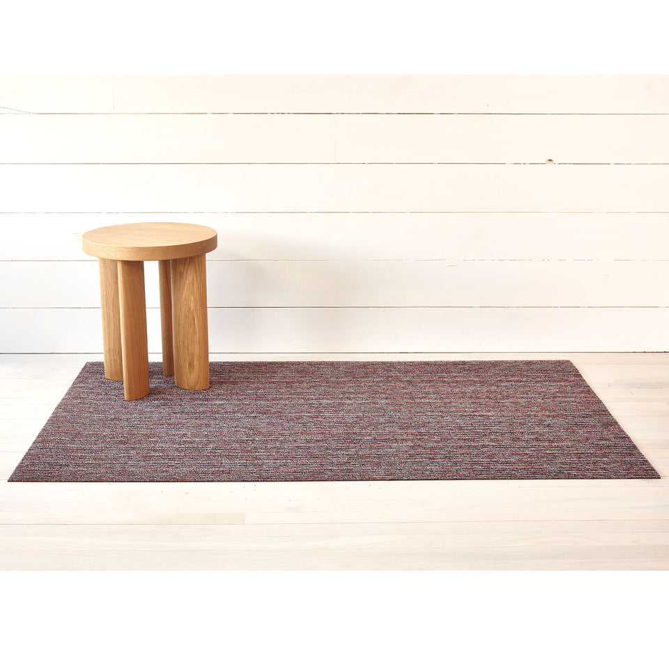 Mulberry Skinny Stripe Shag Mat by Chilewich