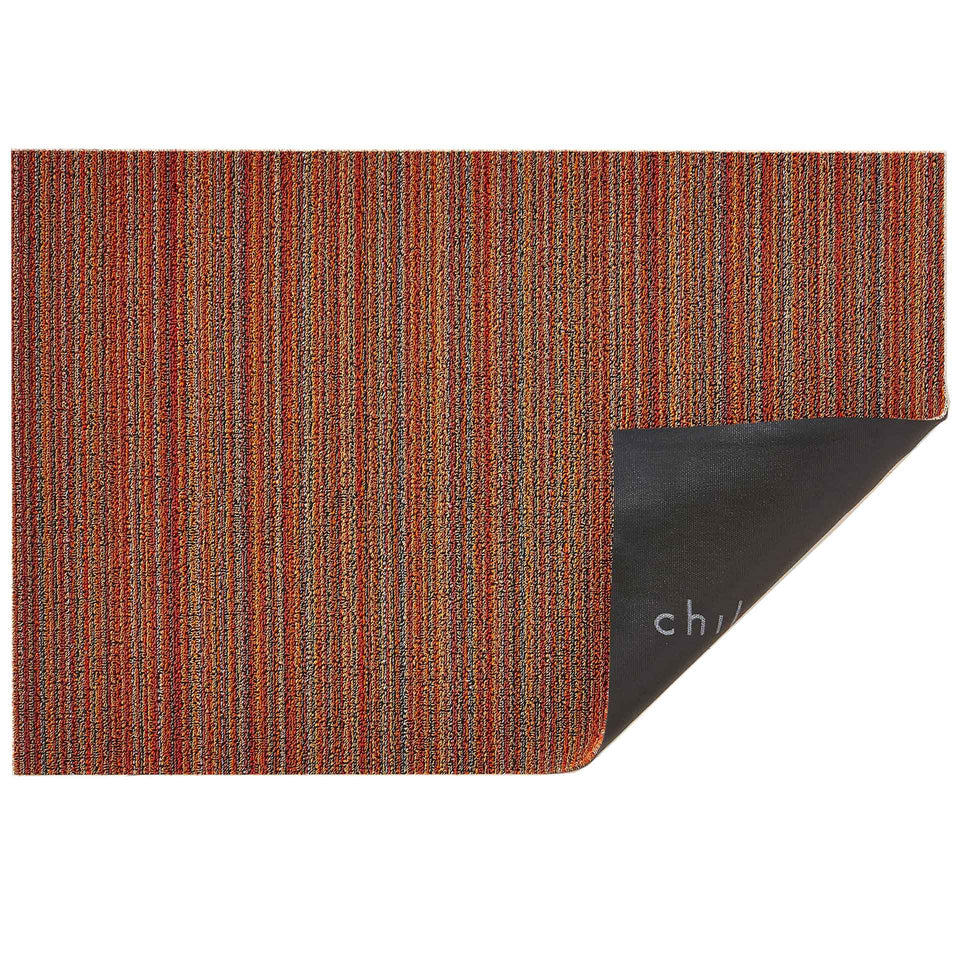 Orange Skinny Stripe Shag Mat by Chilewich