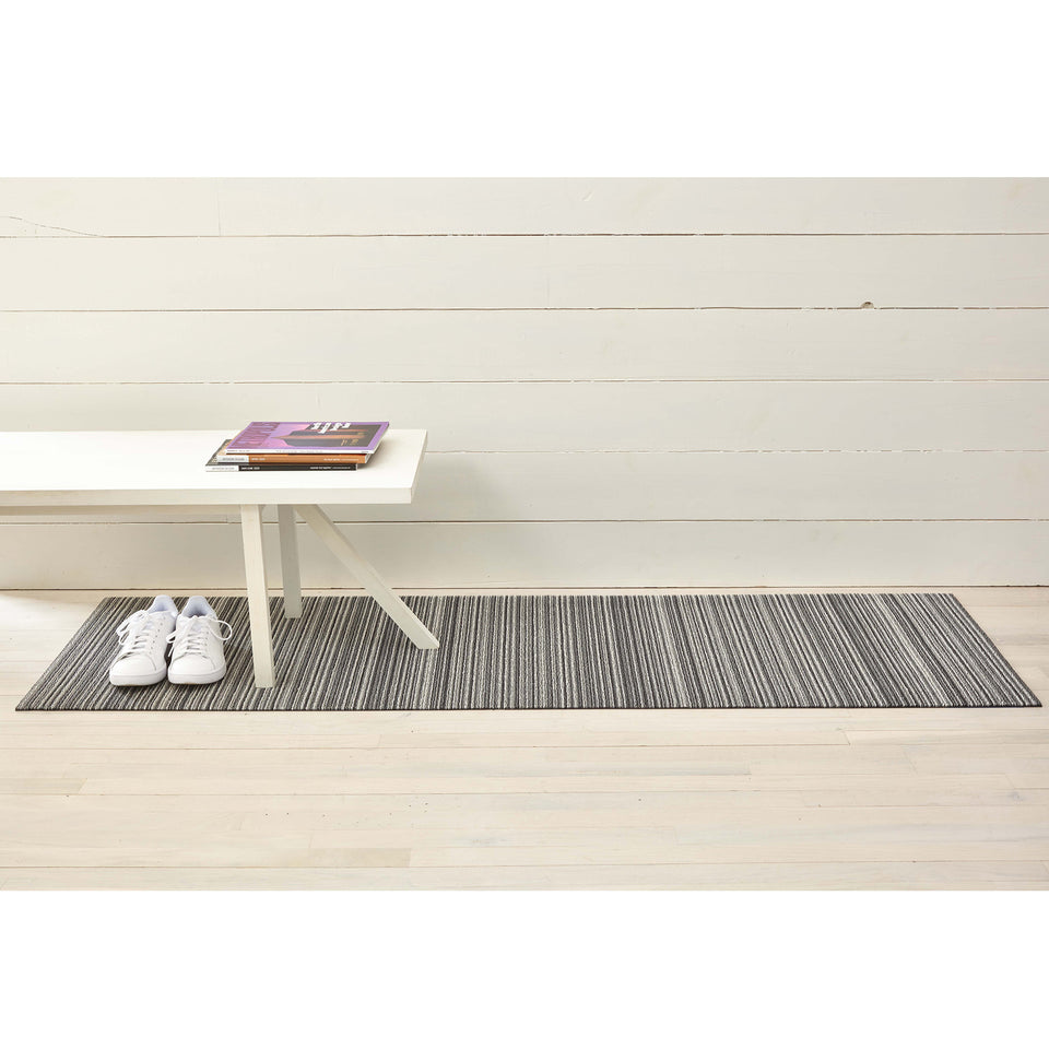 Shadow Skinny Stripe Shag Mat by Chilewich