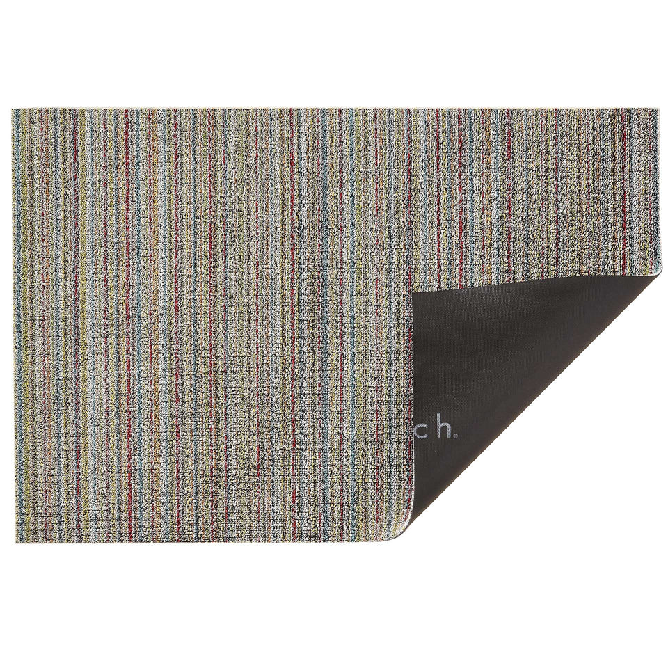 Soft Multi Skinny Stripe Shag Mat by Chilewich