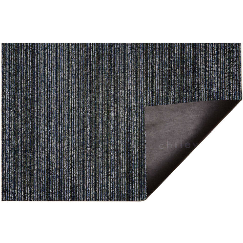 Forest Skinny Stripe Shag Mat by Chilewich