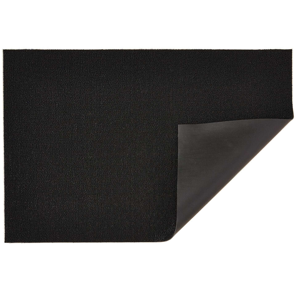 Black Solid Shag Mat by Chilewich