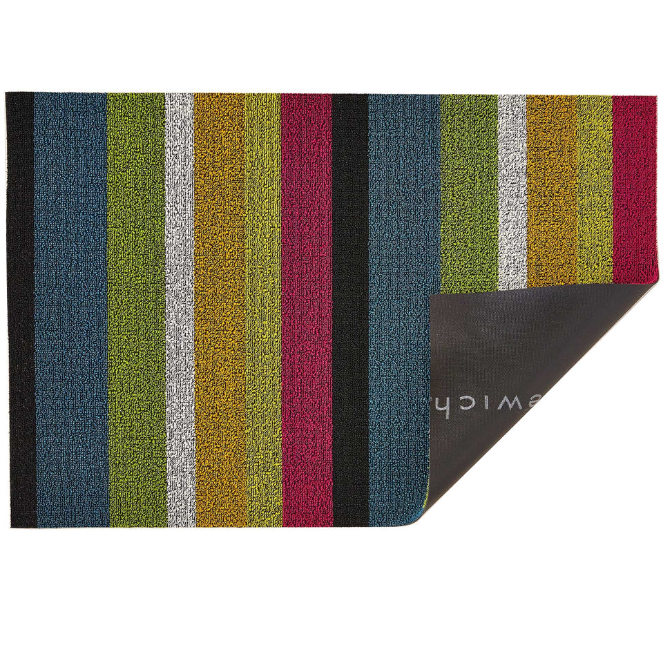 Multi Color Bold Stripe Shag Mat by Chilewich