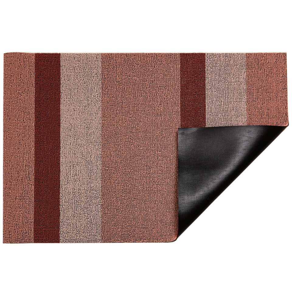 Peach Bold Stripe Shag Mat by Chilewich