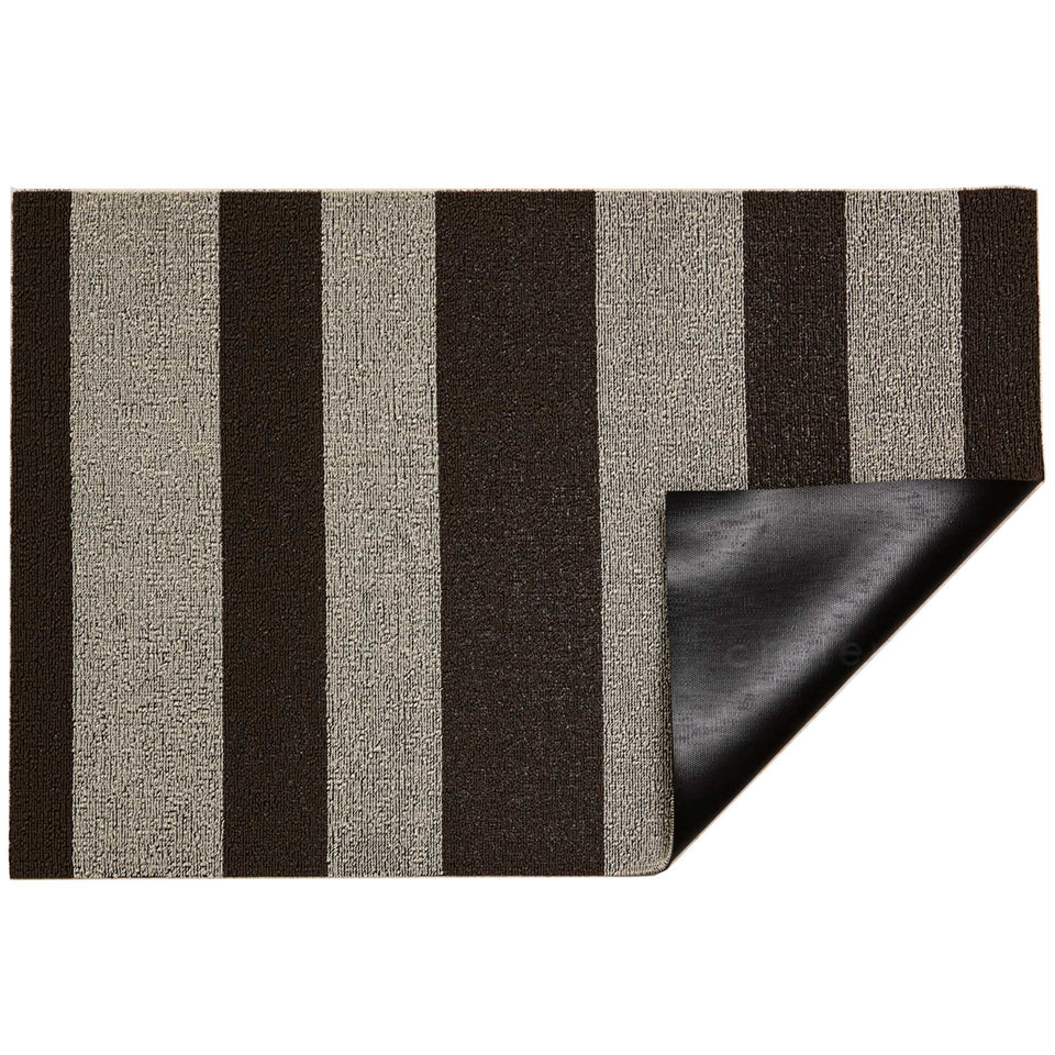 Pebble Bold Stripe Shag Mat by Chilewich