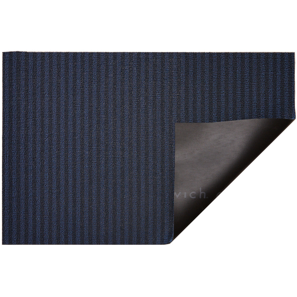 Blueberry Breton Stripe Shag Mat by Chilewich