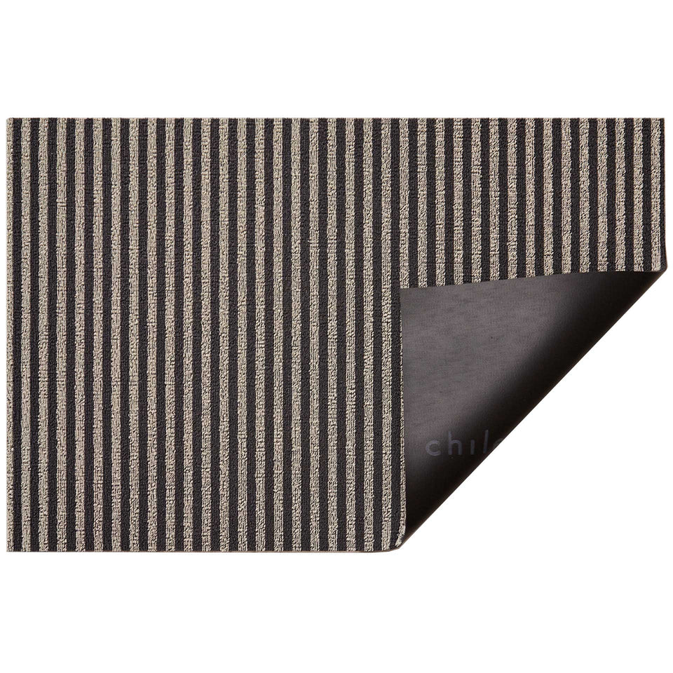 Gravel Breton Stripe Shag Mat by Chilewich