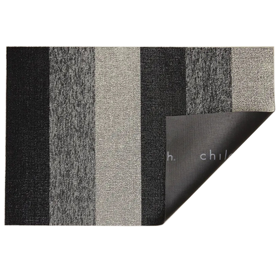 Salt & Pepper Marbled Stripe Shag Mat by Chilewich