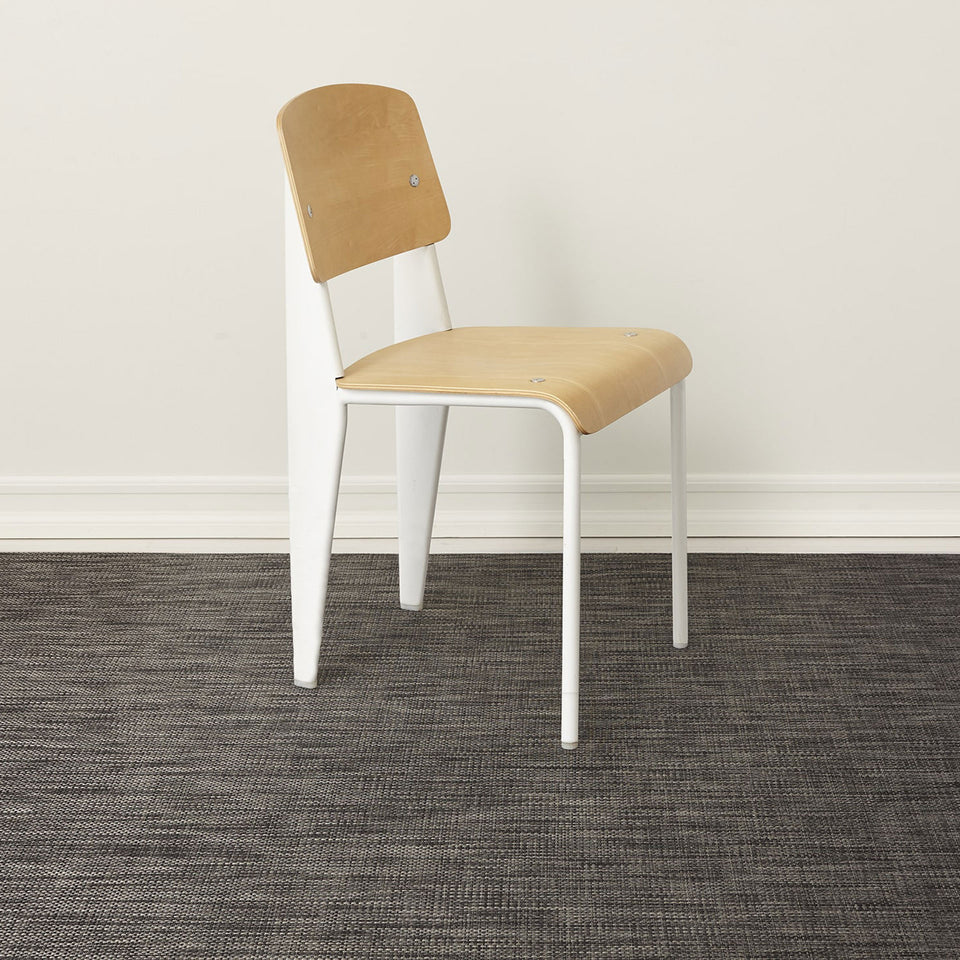 Carbon Basketweave Woven Floor Mat by Chilewich