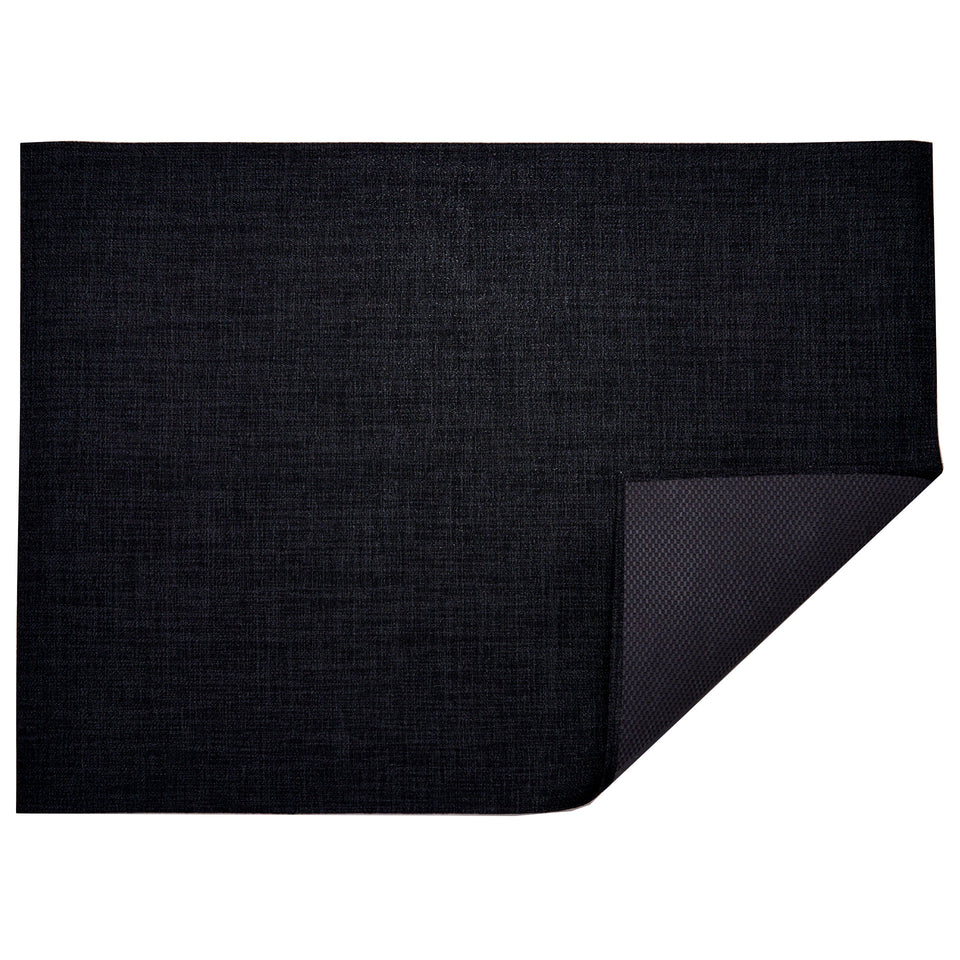 Noir Boucle Woven Floor Mat by Chilewich