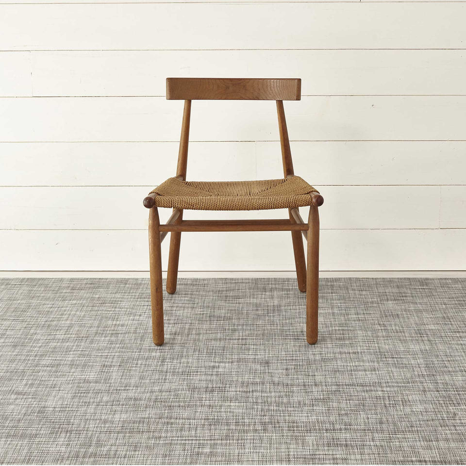 Gravel Mini Basketweave Woven Floor Mat by Chilewich