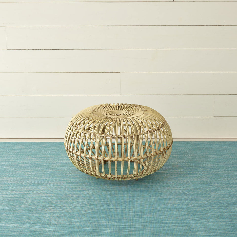 Turquoise Mini Basketweave Woven Floor Mat by Chilewich