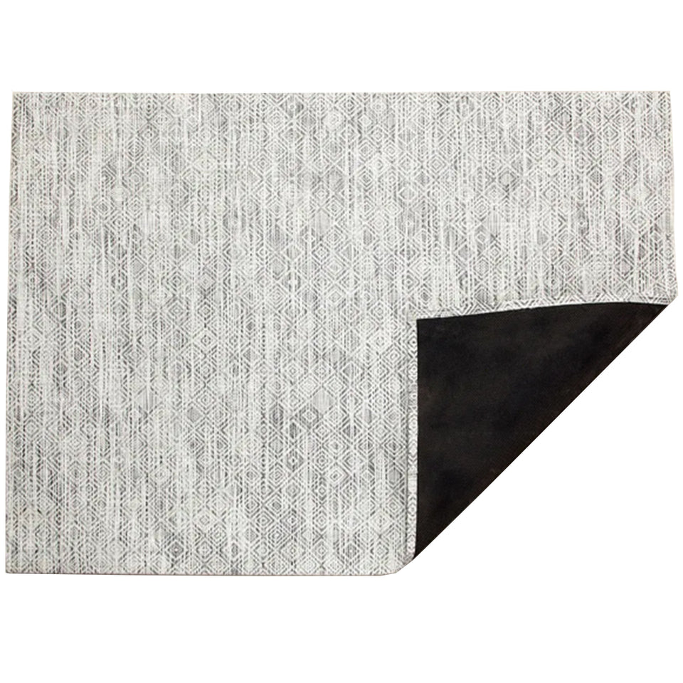 White Black Mosaic Woven Floor Mat by Chilewich