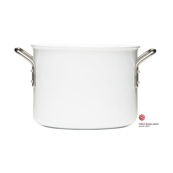 Eva Trio White Line 6.5 Quart (7L) Casserole with Ceramic Coating - Vertigo Home