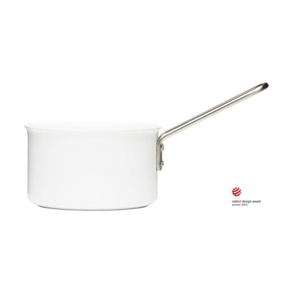 Eva Trio White Line 2 Quart (1.8L) Saucepan with Ceramic Coating - Vertigo Home