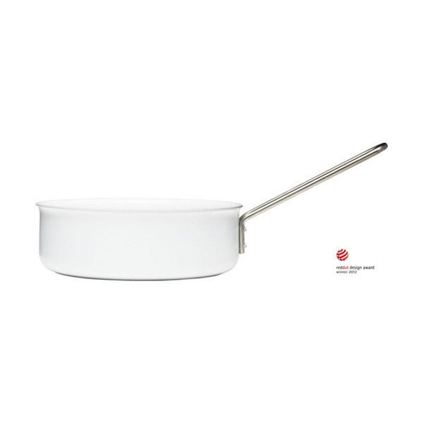 "Eva Trio White Line 9.5"" (24 cm) Sauté Pan with Ceramic Coating - Vertigo Home"