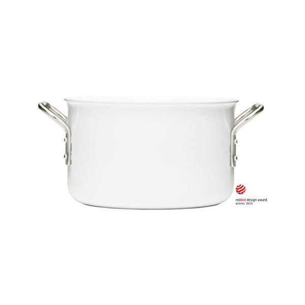 Eva Trio White Line 4 Quart (3.8L) Casserole with Ceramic Coating - Vertigo Home