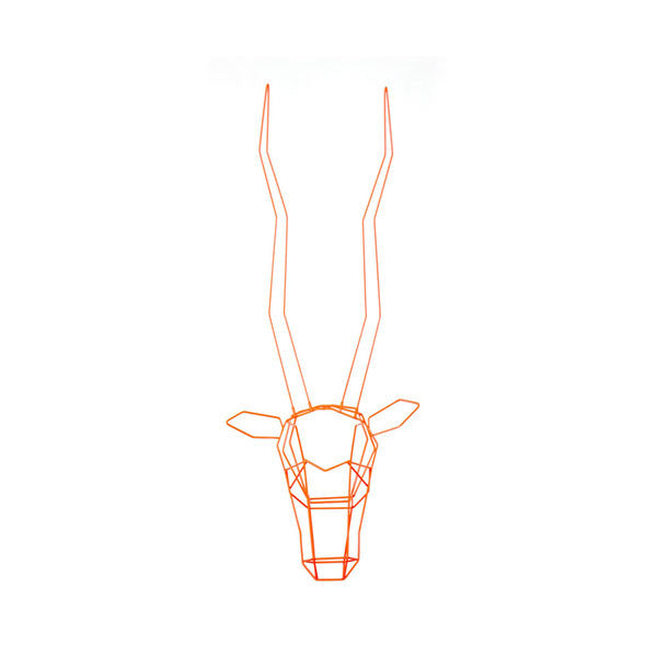 Bend Gazelle Geometric Animal Trophy Head - Vertigo Home