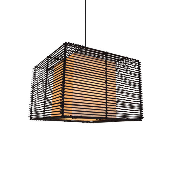 Kai Square Pendant Lamp Small by Kenneth Cobonpue for Hive - Vertigo Home