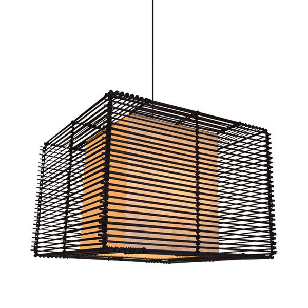 Kai Square Pendant Lamp Medium by Kenneth Cobonpue for Hive - Vertigo Home