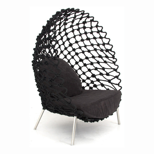 Dragnet Lounge Chair - Black - Vertigo Home