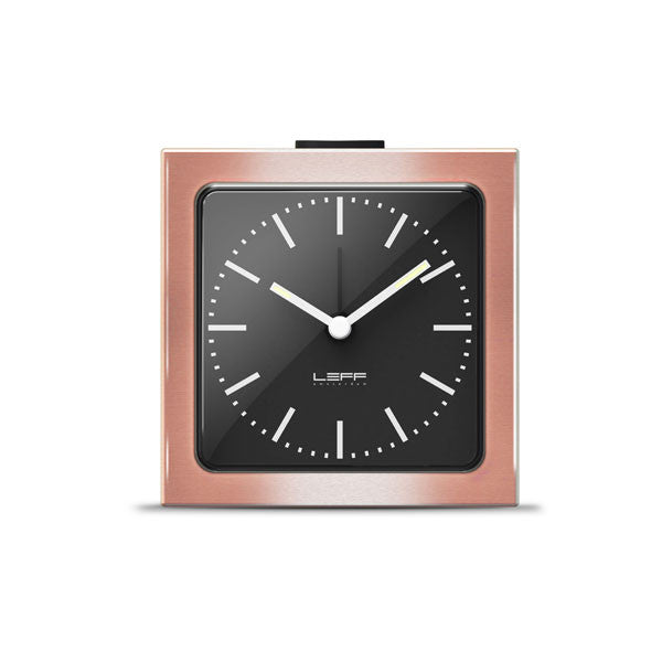 Copper Index Block Alarm Clock by Leff Amsterdam - Vertigo Home