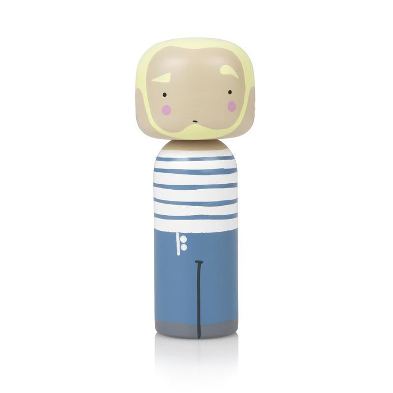 Jean Paul Wooden Kokeshi Doll by Sketch.inc for lucie kaas