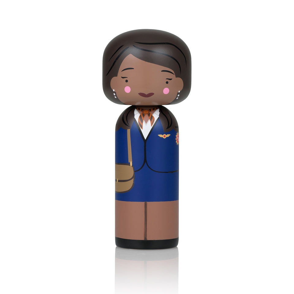 Jackie Brown Wooden Kokeshi Doll by Sketch.inc for lucie kaas