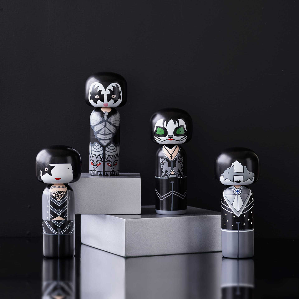 Kiss - The Demon Wooden Kokeshi Doll by Sketch.inc for lucie kaas
