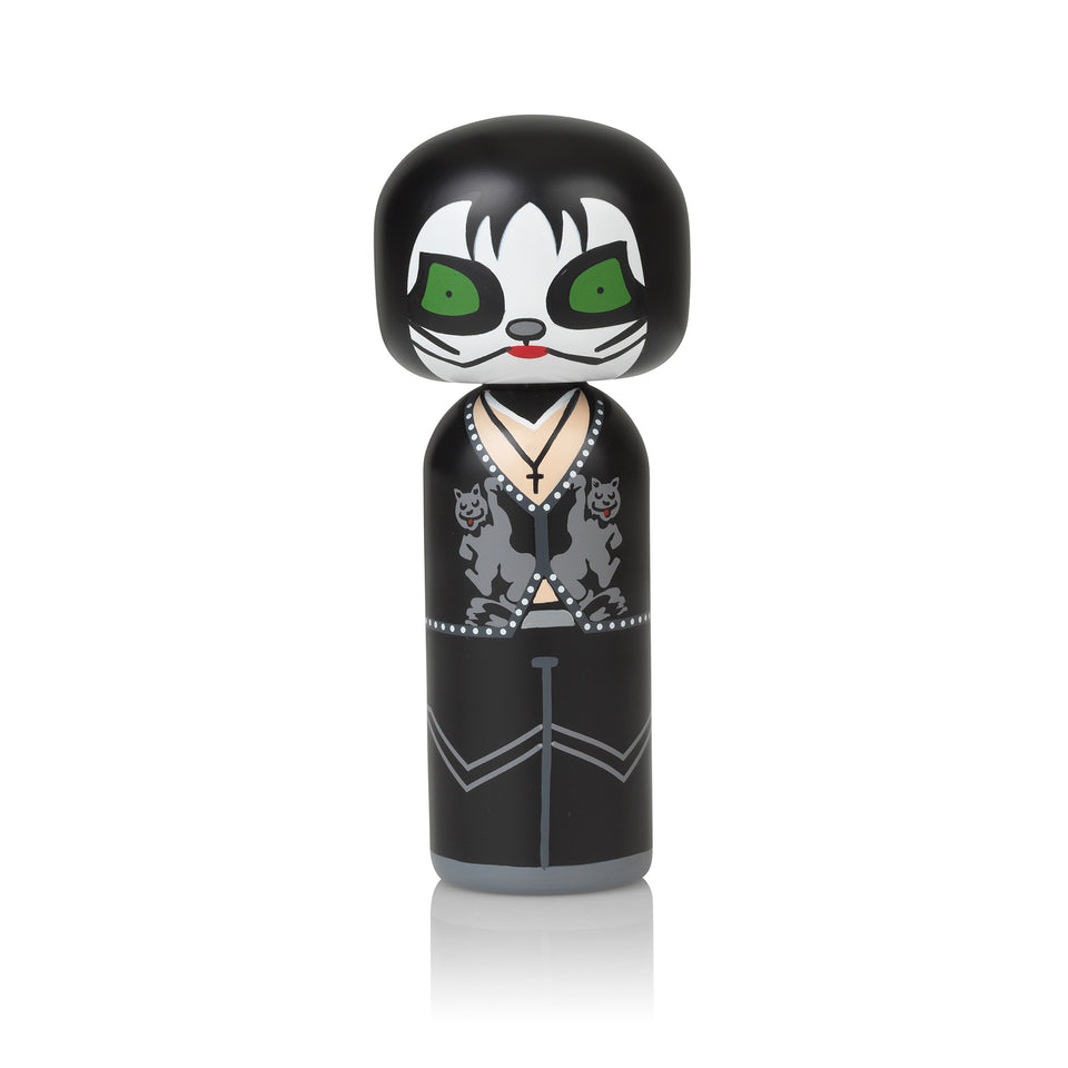 Kiss - The Catman Wooden Kokeshi Doll by Sketch.inc for lucie kaas