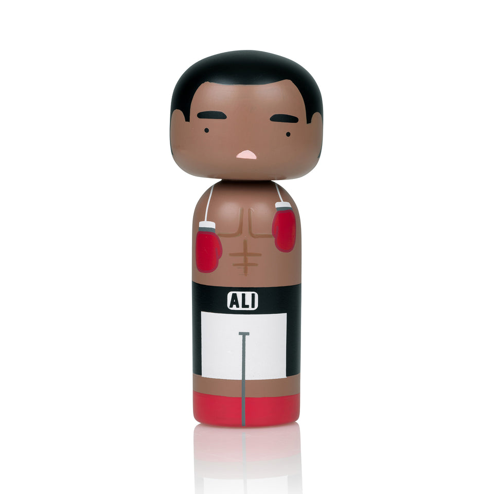 Muhammad Ali Wooden Kokeshi Doll by Sketch.inc for lucie kaas