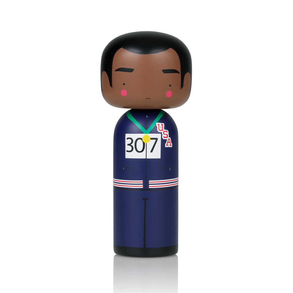 Tommie Smith Wooden Kokeshi Doll by Sketch.inc for lucie kaas