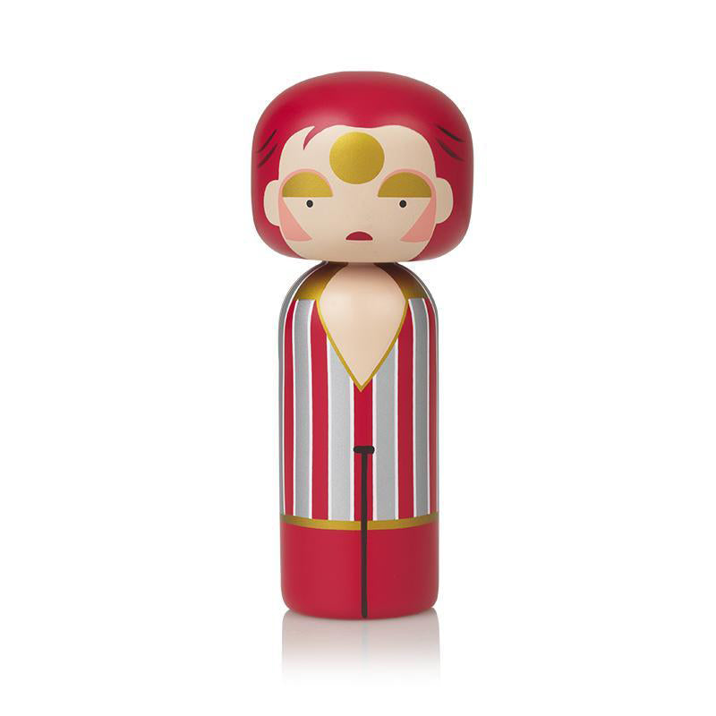 Ziggy Stardust Wooden Kokeshi Doll by Sketch.inc for lucie kaas