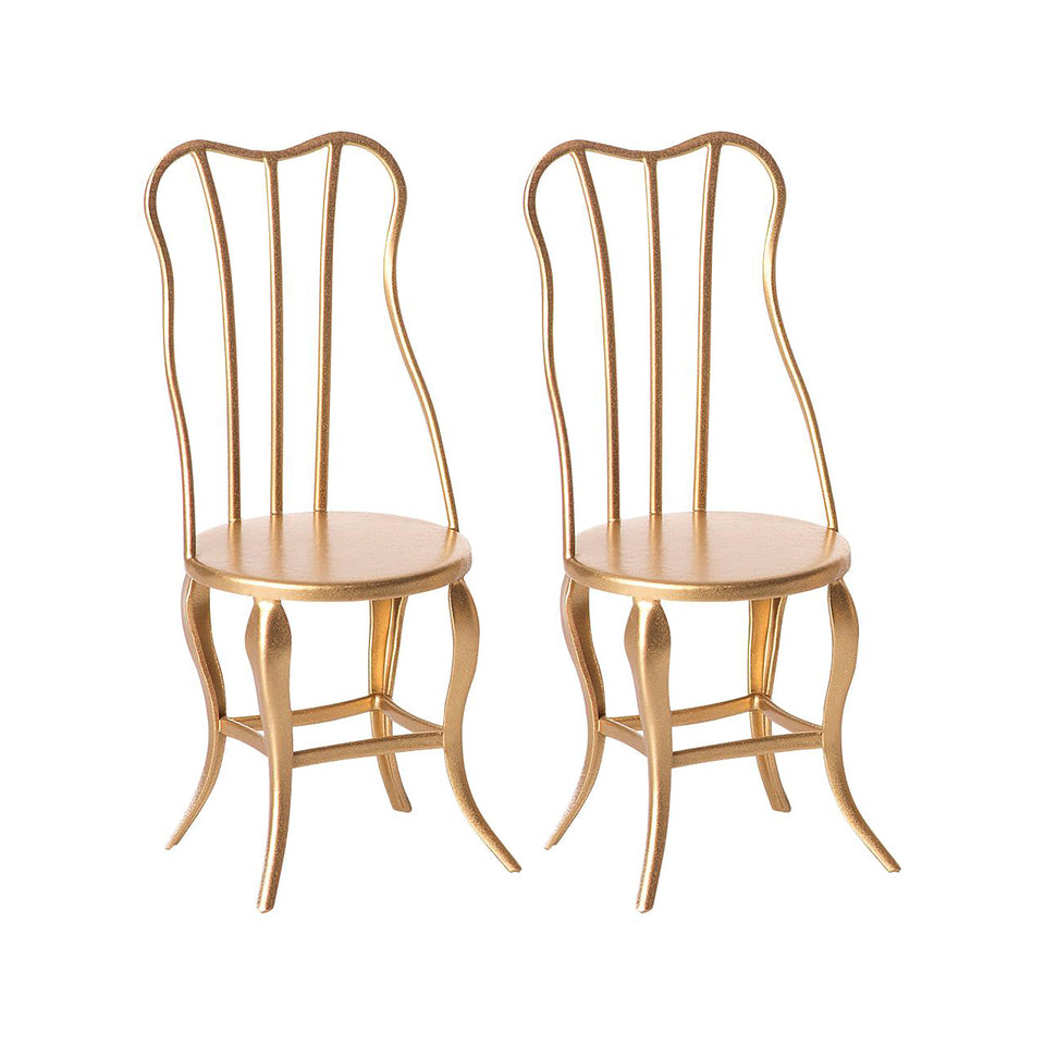 Vintage Chairs in Gold by Maileg