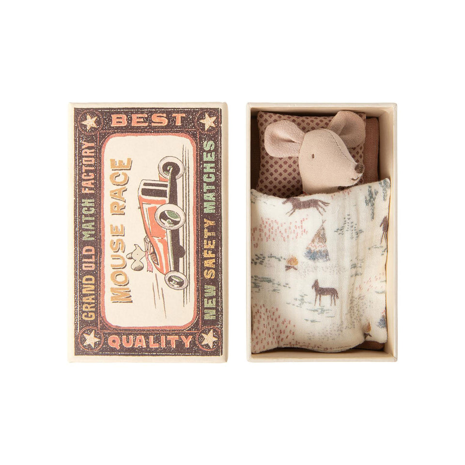 Little Sister Mouse in Matchbox by Maileg