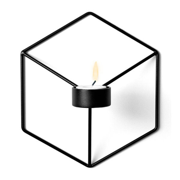 Black POV Wall Candleholder by Note for Menu - Vertigo Home