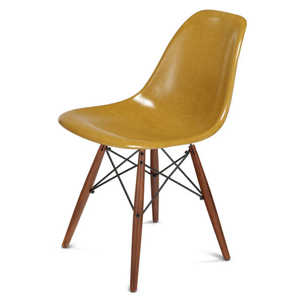Side Shell Chair W/ Walnut + Black Wire Dowel Base By Modernica   Vertigo  Home