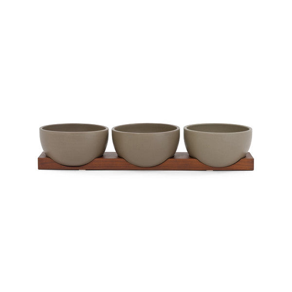 Case Study Table Top Bowls w/ Walnut Base
