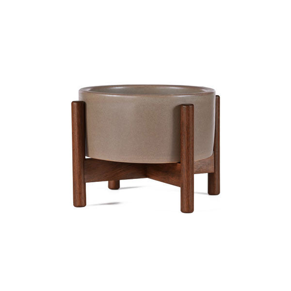 Pepple Case Study Desk Top Cylinder Planter w/ Wood Stand