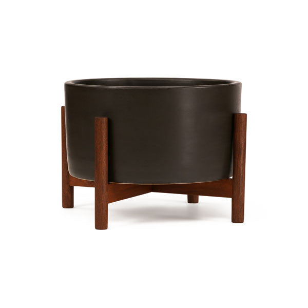 Case Study Table Top Cylinder Planter w/ Wood Stand