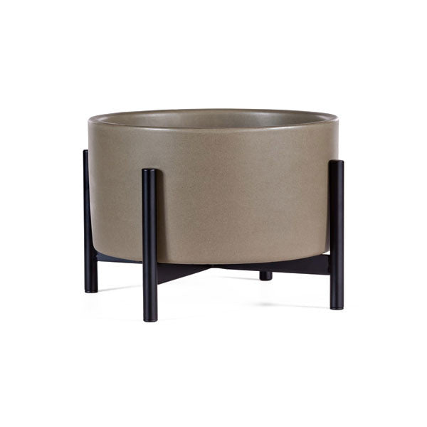 Case Study Table Top Cylinder Planter w/ Metal Stand
