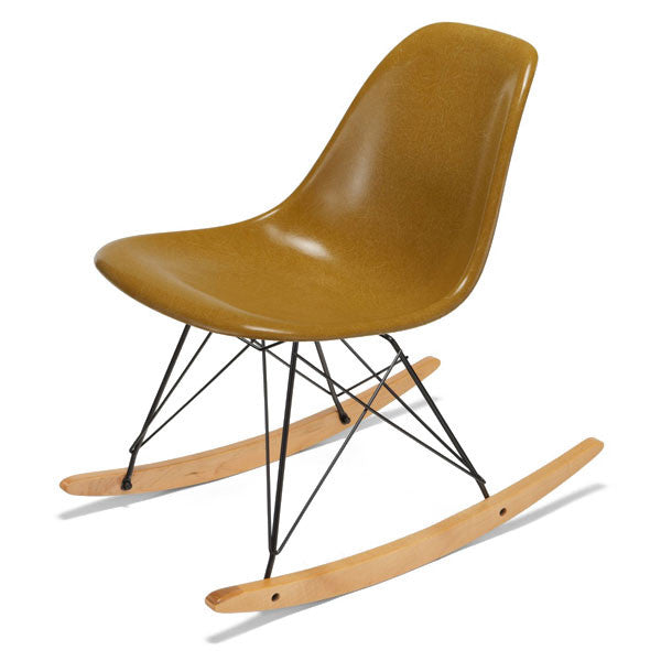Side Shell Rocker w/ Maple + Black Wire Dowel Base by Modernica - Vertigo Home
